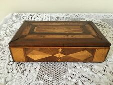 "Vintage Marquetry wooden box - 11.5"" wide"