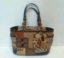 Coach Fall Patchwork Gallery Tote Handbag No 11495 Animal Print
