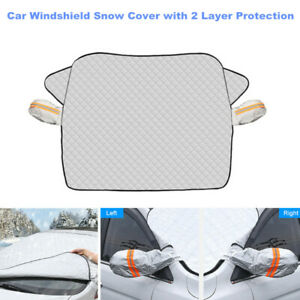 Universal Car Windshield Snow Cover with 2 Layer Protection fit for Chevry Ford