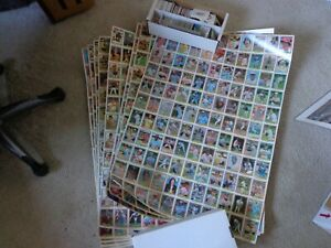Lot of 10, 1981 Donruss Baseball Uncut Sheet with Stars & Raines Rookie Card RC