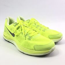 Nike Mens Lunarglide+ 4 Neon Yellow Size 14 Athletic Sneakers Shoes