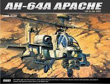 Academy 1/48 AH-64A APACHE Helicopter Plastic Model Kit Cartograf Aero 12262