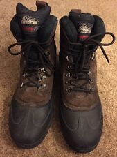 ITASCA Thermolite Men's Hiking Boots Rubber & Brown Leather Suede Size 13