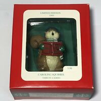 Limited Edition 1995 Caroling Squirrel Longs Drugs A World of Christmas ornament