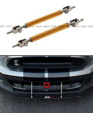 Gold Adjustable Bumper lip Spoiler Splitter Strut Rod Tie Support Bar For Dodge