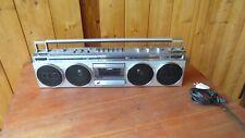 Rare Boombox Ghettoblaster Sanyo m7830K lu radio cassette STEREO VINTAGE