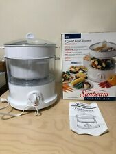 Sunbeam 8 Quart Food Steamer Rice Cooker Model 4713 New/Opened Box