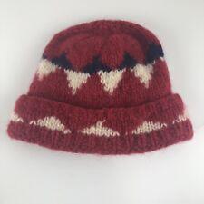 STOBI Kid Danish Unisex Beanie Pure Wool Knit Ski Winter Cap Hat Red Black White