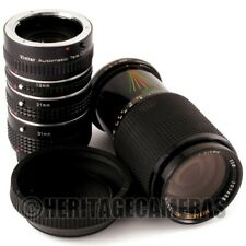 70-210mm MC Zoom Lens, 2X Tele Converter, 1:1 Extension Tubes for Contax Yashica