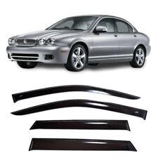 For Jaguar X-type 2001-2010 Window Side Visors Sun Rain Guard Vent Deflectors (Fits: Jaguar X-Type)