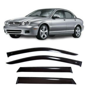 For Jaguar X-type 2001-2010 Window Side Visors Sun Rain Guard Vent Deflectors
