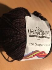 NEW Cascade 220 Superwash Wool Brown Bitter Chocolate DK Worsted Yarn