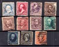 USA 1890 Presidents used set (some faults) to 90c WS16913