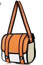 3D Jump Style 2D Drawing Comic Cartoon Backpack Shoulder Bag Novelty Back School