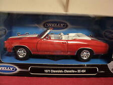 Welly 1971 Chevrolet Chevelle Ss Convertible 1/24 scale nib 2015 release