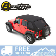 Bestop Trektop NX Plus Soft Top 07-18 Jeep Wrangler JK 4 Door (Black Diamond)