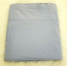 Ralph Lauren Blue Solid Queen Flat Sheet 100% Cotton