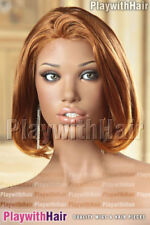 Reversible Thick Bob Wig Fiery Copper Ginger - SUPER SALE!