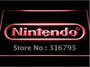 New Nintendo NES video game hanging LED Neon Light Sign Bar Man Cave 7 colors