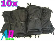 10x Black Microfiber Pouch Bag Soft Cleaning Case Sunglasses Eyeglasses Glasses