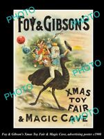 OLD HISTORIC AUSTRALIAN ADVERTISING POSTER FOY & GIBSONS XMAS  MAGIC CAVE c1900