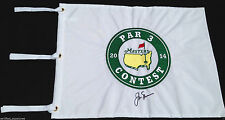JACK NICKLAUS SIGNED PAR 3 2014 AUGUSTA MASTERS GOLF PIN FLAG US OPEN PROOF K6