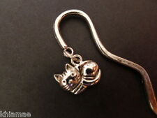 Witch's Cat Bookmark spiral pagan wicca silver book mark halloween samhain black