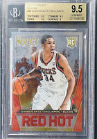 Giannis Antetokounmpo 2013-14 Panini Select Red Hot Rookie RC Gem Mint BGS 9.5