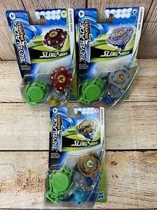Beyblade Burst Rise Sling Shock 3 Lot Bundle By Hasbro NEW