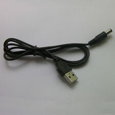1pc USB to 5.5mmx2.1mm DC Plug Supply Socket Cable Cord DC 5.5mm Power Cable a24