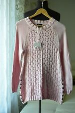 PURE HANDKNIT WOMEN SWEATER PULLOVER SIZE US XS/S NEW/WTAGS