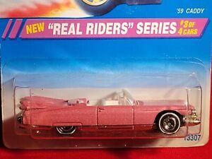 Hot Wheels ~ '59 Caddy ~ 1995 Real Riders Series #3/4,  Pearl Pink