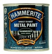 Direct To Rust Metal Paint - Hammered Dark Green - 250ml 5084831 HAMMERITE