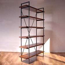 Industrial Vintage Rustic Standing Book Shelves. Display Unit Bookcase