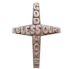16 cm Bronze Cross Bronzekreuz Ornament Haussegen Hochzeit 19 cm