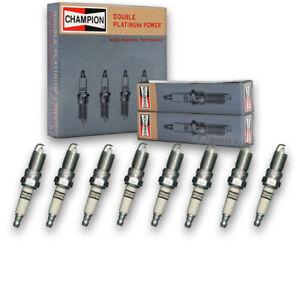 8 pc Champion Double Platinum Spark Plugs for 1999-2013 GMC Sierra 1500 4.8L cc