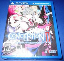 Conception II Children Of The Seven Stars PS Vita Factory Sealed! Free Ship!