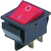 Wippenschalter, Einbauschalter für Steckdosenleiste etc. 2-polig, beleuchtet S13