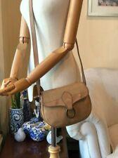 Authentic Vintage ChristianDior Logo Beige Canvas Leather Crossbody Shoulder Bag