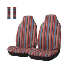 Car Seat Covers Red Stripe Saddle Blanket Front Seat Cover 4pc Universal Fits