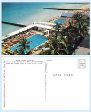 Aerial View Ocean Pools Cabana Clubs Miami Beach Florida Postcard
