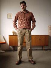 chic ALKEIRO Herren Hemd Shirt Spitzkragen Dederon 70er True VINTAGE 70´s Nylon