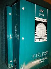 1998 FORD PICKUP F-150 / F-250 SHOP MANUAL SET / GOOD ORIGINAL BOOKS