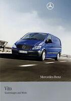 Prospekt 2008 Mercedes-Benz Vito Kastenwagen Mixto 9 08 Autoprospekt brochure