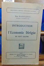 RADULESCU Introduction à l'économie dirigée en 7 leçons...