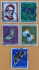 Switzerland 1951 Pro Juventute Stamps Used