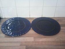 "2 X 12"" Decorative Dark Blue Glass plate"