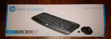 HP  Classic Desktop Combo Wireless Keyboard and Optical Mouse Black NEW