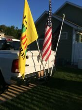"Hitch Mount - Standard 2"" - (TRIPLE) FLAG POLE HOLDER for TRUCKS,CARS & SUVS"