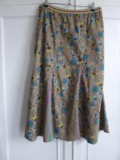 Vintage Fatface Ladies Skirt 10 BNWT Cotton Retro 50's Dandelion Clock print